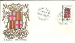 FDC 1962 ESCUDO BARCELONA  MARCA ALFIL - FDC