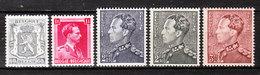 527/31**  Leopold III  - Série Complète - MNH** - COB 13 - Vendu à 12.50% Du COB!!!! - Neufs