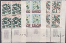 Cambodge N° 164 / 66 Xx Plantes Industrielles En Bllloc De 4 Coin  Daté Sans Charnière, TB - Cambodge