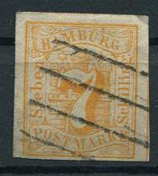 Hamburg: 7 Sch. MiNr. 6 1859 Gestempelt / Used / Oblitéré - Hamburg (Amburgo)