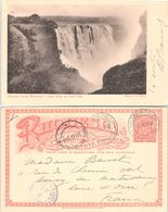 STATIONERY 1p. RHODESIA. 29 AUG 1908. VICTORIA FALLS TO FRANCE - Unclassified