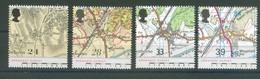 Great Britain 1991 - Landkarten, Set Of 4 Stamps, MNH** - 1952-.... (Elisabeth II.)