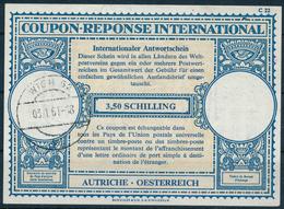 AUTRICHE / ÖSTERREICH  -   Type Lo17  -  3,50 SCHILLING  -  Reply Coupon Reponse , Antwortschein - Ganzsachen
