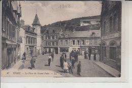 76  -YPORT -  Place Du Grand Puits...1908 - Yport