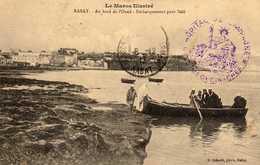 MAROC   RABAT  Au Bord De L'Oued. Embarquement Pour Salé.  1912  Cachet Franchise Militaire - Marokko