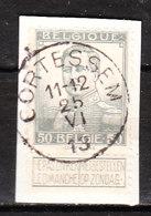 115  Pellens - Bonne Valeur - Oblit. Centrale CORTESSEM  - Sur Fragment - LOOK!!!! - 1912 Pellens