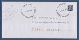 = Cérès Issu Du Carnet 2019 L'Affranchissement (avec Marianne L'engagée) Timbre Cérès Oblitéré 1.05€ Sur Enveloppe - 2018-... Marianne L'Engagée