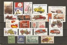 Pompiers - Incendies - Petit Lot De 22 - 1 Série Complète DDR MNH (2722/25) - 18°- 4 Flammes Prevention/Prevent Fires - Vrac (max 999 Timbres)