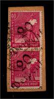SBZ 1948, 2x Nr 177 IV Auf Paketkartenabschnitt (94369) - Sowjetische Zone (SBZ)