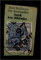 SBZ 1948 Nr 180 V Auf Paketkartenabschnitt (94390) - Sowjetische Zone (SBZ)