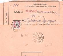 Algérie :-  TIZI OUZOU 0.25.Marianne De DECARIS Surchargé E.A.sur Lettre - Guerra D'Algeria