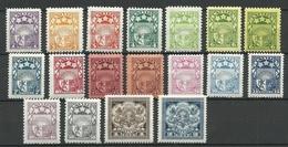 LETTLAND Latvia 1927/31 Michel 117 - 123 & 159 - 152 & 171 - 176 & WM Swastika/WZ Hakenkreuz * - Lettland