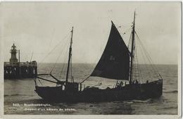 Blankenberghe.   -     Départ  D'un Bâteau De Pêche.   -   FOTOKAART!   -   1936   Naar  Wegnez - Pesca