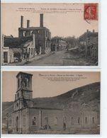 Ruines De Haybes Lot De 2 CPAs - Francia