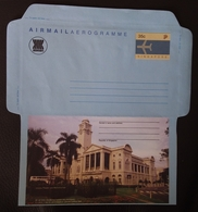 Singapore 1988 Historical Building, Victiria Memorial Hall Aerogramme Unused - Singapour (1959-...)
