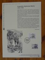 Document Officiel FDC 17-516 Augustin Alphonse Marty Poste Aux Armées 1ère Guerre Mondiale Conques 12 Aveyron 2017 - WW1 (I Guerra Mundial)