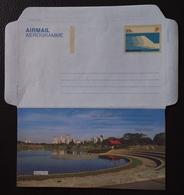 Singapore 1991 Parks Of Singapore, Bishan Park Aerogramme Unused - Singapour (1959-...)