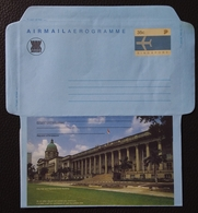 Singapore 1991 Historical Building, City Hall And Supreme Ciurt Building Aerogramme Unused - Singapour (1959-...)