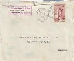 Maroc. Lettre Ayant Circulé. Société Chérifienne D'Energie. Joli Cachet De Berkane. 1961. Etat Moyen. Déchirure Au Verso - Mineralen