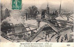 Carte   POSTALE  Ancienne De  AY En CHAMPAGNE - Revolution Avril 1911,  Ruines De La Maison DEUTZ Geldermann - Ay En Champagne