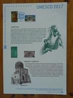 Document Officiel FDC 17-571 Orang-utan + Mosquée Samarkand Uzbekistan Islam Patrimoine Mondial Unesco Heritage 2017 - Mosques & Synagogues