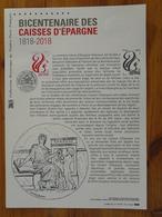 Document Officiel FDC 18-501 Caisse D'Epargne Banque Finance écureuil Squirrel 2018 - Documents Of Postal Services