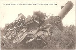 41 - VALLOIRES-SUR-CISSE - L'Accident De Chemin De Fer De CHOUZY - 21 Octobre 1904 - N° 578 Train Locomotive Catastrophe - France