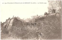 41 - VALLOIRES-SUR-CISSE - L'Accident De Chemin De Fer De CHOUZY - 21 Octobre 1904 - N° 579 Train Locomotive Catastrophe - France