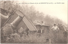 41 - VALLOIRES-SUR-CISSE - L'Accident De Chemin De Fer De CHOUZY - 21 Octobre 1904 - N° 577 Train Locomotive Catastrophe - France