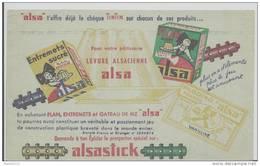 Buvard -. Levure Alsacienne Alsa - Alsastick- - Sucreries & Gâteaux