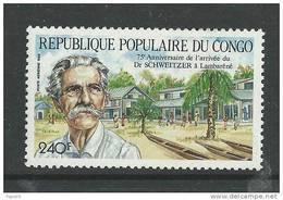 Congo PA N° 380 XX   75ème Anniversaire De L'arrivée Du Dc Schweitzer à Lambaréné, Sans Charnière, TB - Mint/hinged