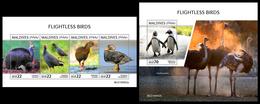 MALDIVES 2019 - Flightless Birds, Ostriches. M/S + S/S Official Issue [MLD190902] - Straussen- Und Laufvögel