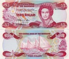 BAHAMAS       3 Dollars       P-44a       L. 1974 (1984)       UNC - Bahama's