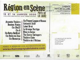 Pseudo Entier . Pays De La Loire . Région En Scène . Circulé Novembre 2019. - Biglietto Postale