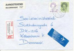 Netherlands Registered Cover Sent To Denmark Vlaardingen Van Hogendorplaan 13-12-1995 - Period 1980-... (Beatrix)