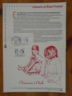 Document Officiel FDC 18-517 Célestin Et Elise Freinet Imprimerie école Printing School Vence 06 Alpes Maritimes 2018 - Infanzia & Giovinezza