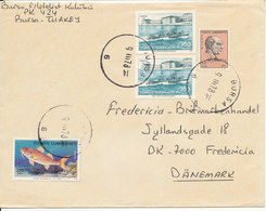 Turkey Cover Sent To Denmark 9-3-1978 (the Fish Stamp Is Damaged) - Brieven En Documenten