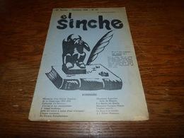 Ancienne Gazette En Wallon El Sinche Octobre 1938 Mémorial Gustave Minion - Livres, BD, Revues