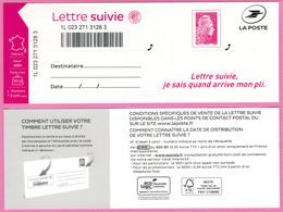 Lettre Suivie Marianne L'Engagée Feuillet Neuf Non Plié L S 6 - France