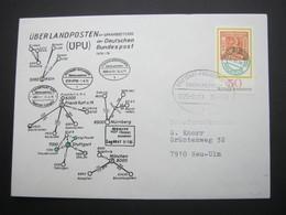 Bahnpost:  1979 , STUTTGART - FREUDENSTADT    Überlandpost     , Klarer   Stempel Auf Beleg - BRD