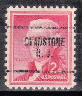 USA Precancel Vorausentwertung Preo, Locals New Jersey, Gladstone 704 - United States