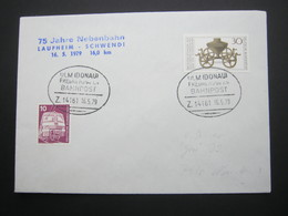 Bahnpost:  1979 , ULM - FRIEDRICHSHAFEN   , Klarer   Stempel Auf Beleg - BRD