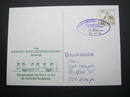 1978 , Bahnpost:  HAGEN   , Klarer   Stempel Auf Karte - BRD