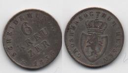 + HESSE  - DARMSTADT + 6 KREUZER  1836 + TRES TRES BELLE + ARGENT - [ 1] …-1871 : German States