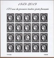 BLOC FEUILLET 1849-2019 170ème Anniversaire Du 1er Timbre De France (ND Avec Tête Bêche) CERES NEUF** TRES BEAU VOIR. - Neufs