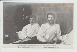 COURRIERES - PAS DE CALAIS - CATASTROPHE MINIERE DE MARS 1906 - LES RESCAPES - BOURSIER ET VATTIEZ - Andere Gemeenten