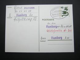 Bahnpost:  1975 , HAMBURG - LÜBECK    Überlandpost     , Klarer   Stempel Auf Beleg - BRD
