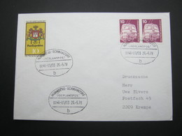 Bahnpost:  1978 , NÜRNBERG - SCHWANDORF    Überlandpost     , Klarer   Stempel Auf Beleg - BRD