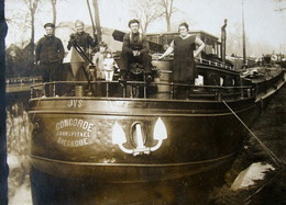 RPCP : Binnenschip : CONCORDE ; Familie VAN SPITAEL, Baesrode; Baasrode,  Photo Of Old Postcard, 2 Scans - Boats