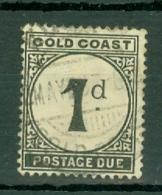 Gold Coast: 1923   Postage Due   SG D2    1d      Used - Gold Coast (...-1957)